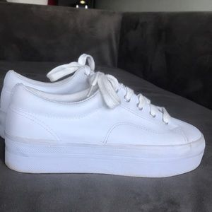 White Platform Sneakers   Poshmark